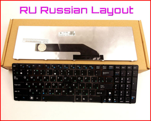 Новая Клавиатура RU Русский Версия Для ASUS K50AE K50X K50ID K50IE K50IO K50IL K50IP X66 X5AC Ноутбук