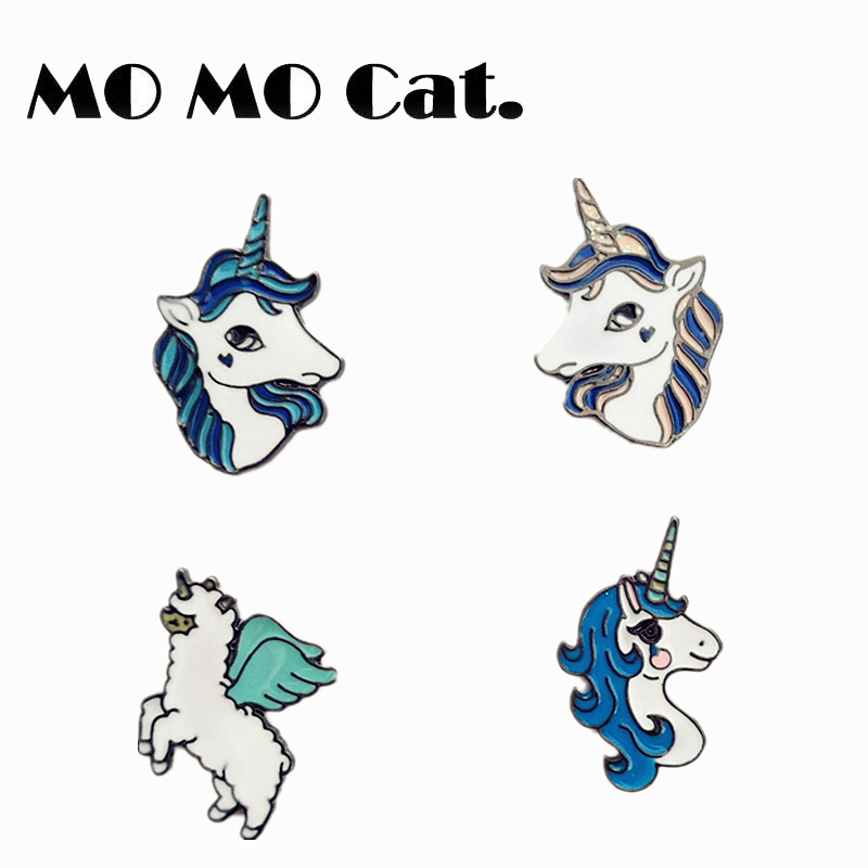 Free shipping Fashion jewelry Wholesale gift Japanese soft sister unicorn badge pin Korean brooch collar accessorize