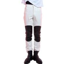 Прилив мужской тонкий Искусственная кожа длинные штаны Красный Белый модные кожаные брюки ночной клуб бар костюмы рок DJ Джаз костюмы для выступлений