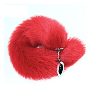 Metal Anal Plug Red Tail Anal Plug Fun Back Court Stimulate Dog Tail Small Fox Tail Sex Toys for Woman Tail Plug Bdsm Toys
