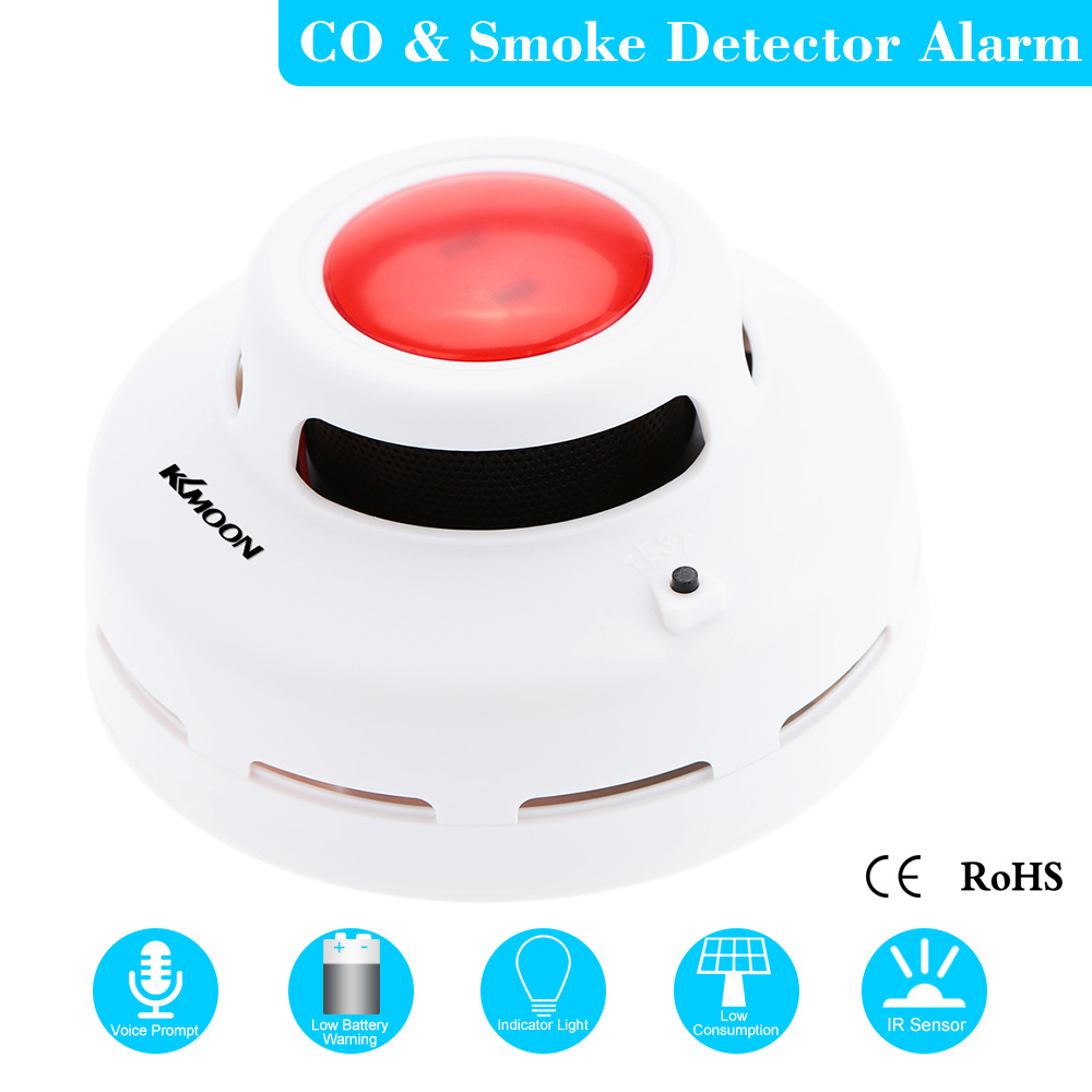 Carbon Monoxide Detectors Battery Operated Carbon Monoxide Detector Co Gas Sensor Alarm With Human Voice Prompt For Garage Gas Fireplace Home Security 100% Original Fire Protection