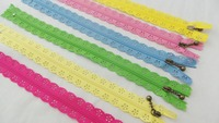 By DHL 1000PCS Lot Fashion 20cm Or 25cm Zippers Lace Nylon Finish Zipper For Sewing Wedding
