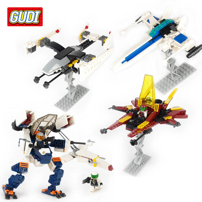 GUDI Star Space Blocks Children Educational Assembled Model Space Wars Building Kits Bricks Toy Boy Kid Best Gift Brinquedos lepin 16014 1230pcs space shuttle expedition model building kits set blocks bricks compatible with lego gift kid children toy