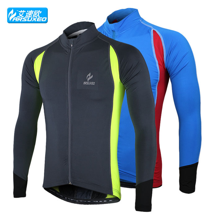 sports running cycling bike bicycle fitness compression jerseys shirts jerser wear long sleeves top