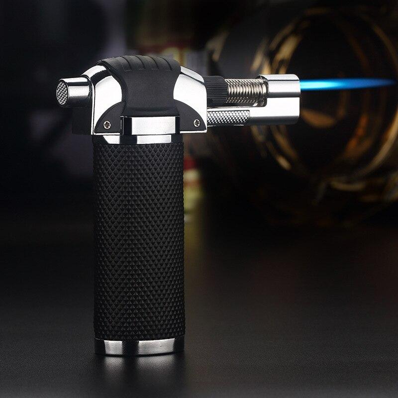 Outdoor BBQ Lighter Cigar Torch Turbo Lighter Jet Butane 1300 C Spray Gun Windproof Metal Pipe Lighter Kitchen No Gas-in Matches from Home & Garden