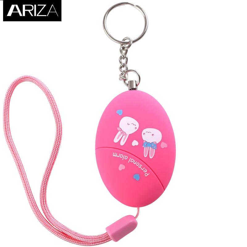 Ariza 120DB Portable Keychain Personal Alarm Anti-Rape Anti-Attack Personal Emergency Alarm Panic Alarm Safety Alarm for Women