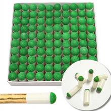100pcs Billiard Accessories 9mm Push-on Pool Snooker Billiard Tips Pool Cue Tips Slip-on Stick