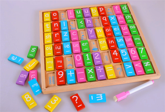 New wooden toy Baby Learning drawing board Baby toy Educational wooden toys  Free shipping