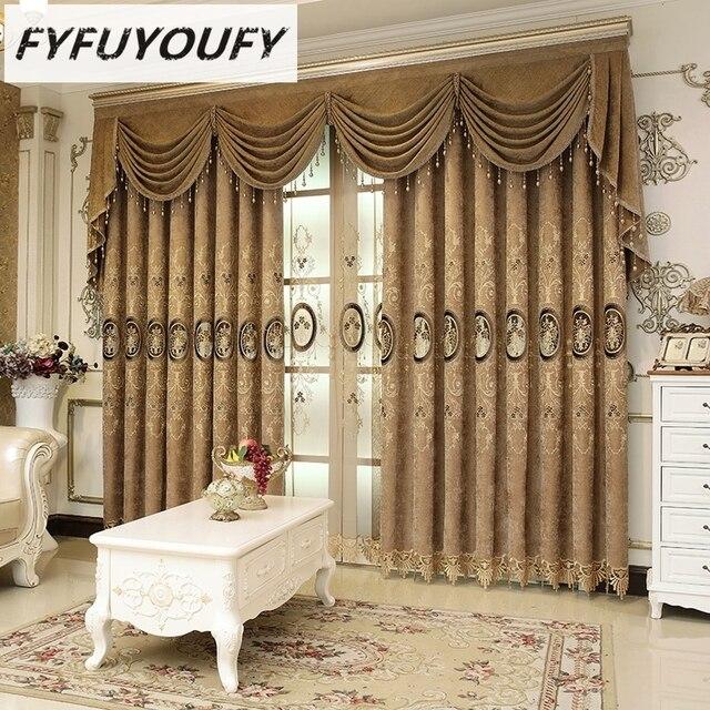 Luxury Villa Curtain For Living Room,High Grade Decorous