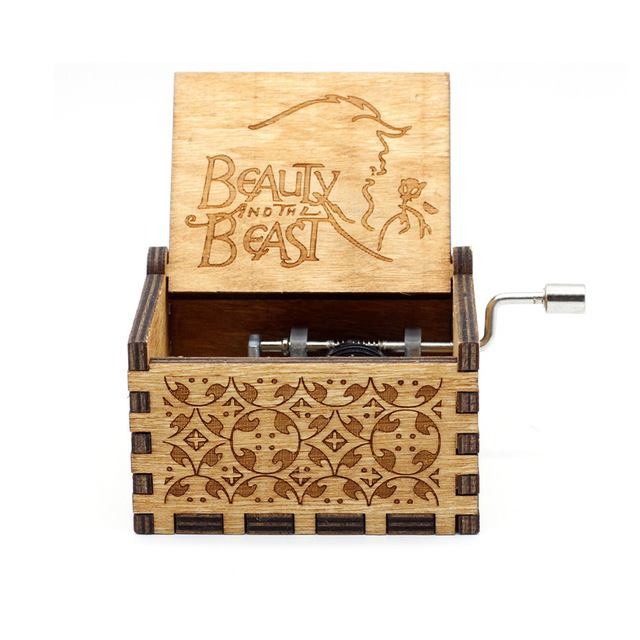 Новая музыкальная шкатулка Juego De Tronos Star Wars, игра в тронный замок в небо, деревянная музыкальная шкатулка, рождественский подарок - Цвет: Beauty the beast