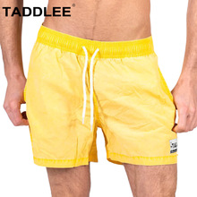 Taddlee Brand Beach Swimwear Quick Drying Swimsuits Boardshorts Men Bathing Suits