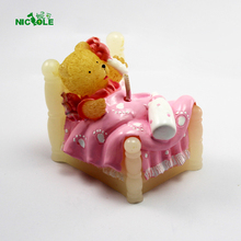 3D Soap Mold Baby Bear Bed Soft Silicone DIY Mould