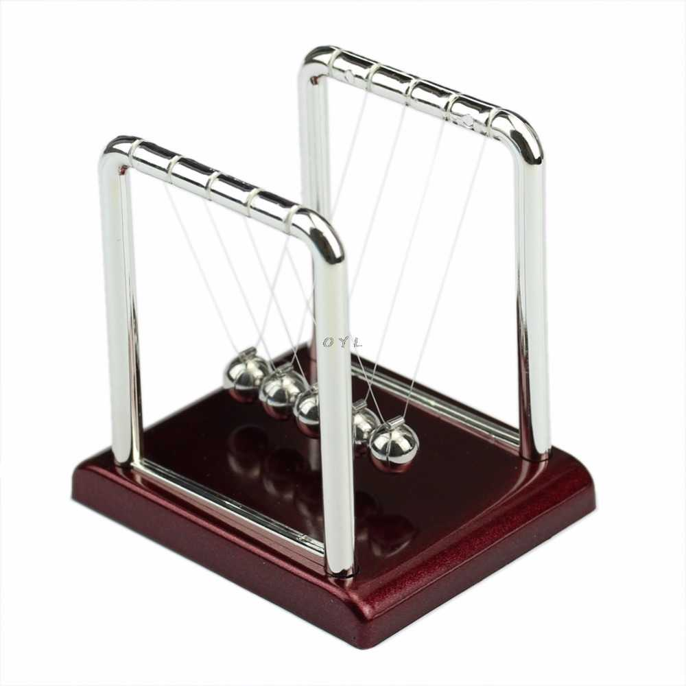Cradle Steel Newton's Balance Ball Physics Science Pendulum Fun Desk Toy Gift