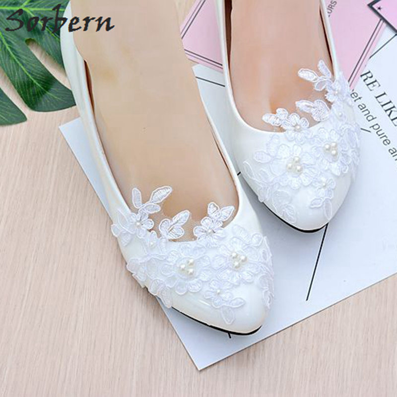Sorbern Party Shoes Women Pointed Shoes Low Heel Dress Shoes Autumn Spring Block Heels Wedding Shoes For Brides 4.5Cm/8Cm
