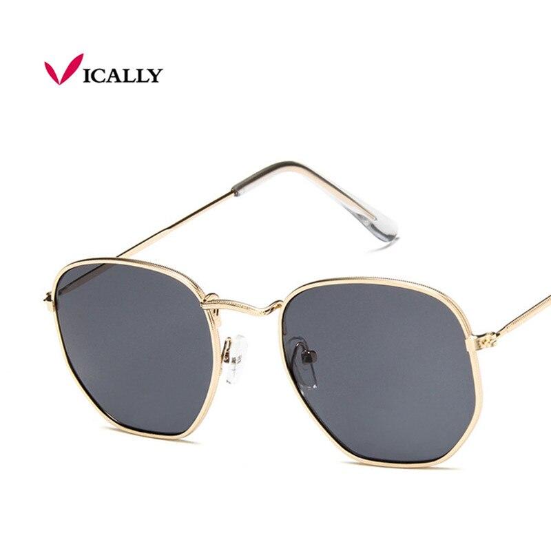 značka designer náměstí sluneční brýle ženy muži retro sluneční brýle rám ženy slitina zrcadlo sluneční brýle ray žena oculos de sol