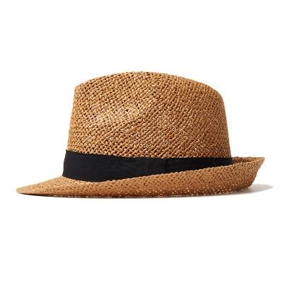 3cee6cdaecf 2017 Summer Straw Hat For Men Premium Quality Natural Color Men s Cool  Raffia Straw Summer Hat Narrow Brim Havana Hat