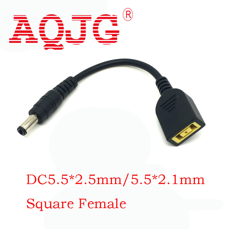 DC Tip Plug Connector Cord Cable 5.5*2.1 Male TO Square Female For Lenovo IdeaPad Connector Charger Adapter Laptop 10cm