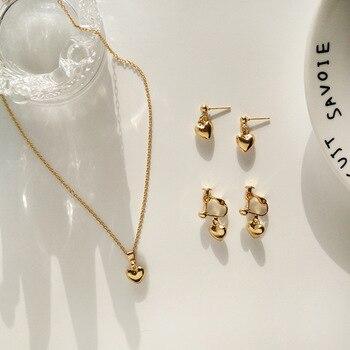 Mode Mode herz-förmigen halskette Einfache Liebevolle Anhänger Schmuck herz Anhänger Halskette für frauen