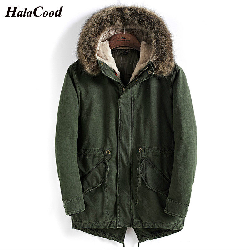 Abrigo de Chaqueta larga de algodón con capucha de alta calidad a prueba de  viento 5a2086c50000