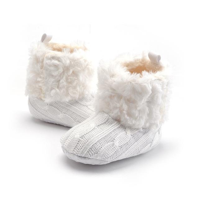 Nova Chegada Atacado 5 Cores Sólidas Oferecem Estilo Retro Inverno Manter Moda Quente Macio Soled Crianças Encantadoras Botas Primeiro Walker
