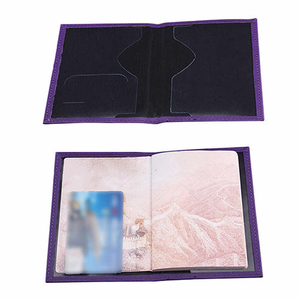 Gewijd Mooie Paspoort Cover Case Universal PU leather ID Card Travel Cover Houder Protector Organizer
