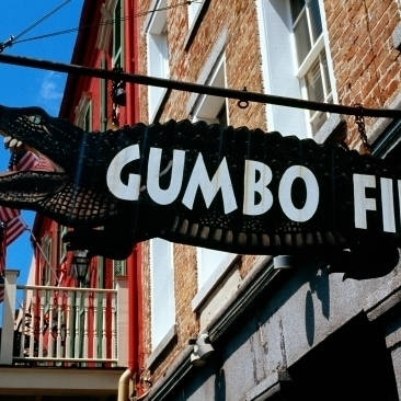 Signboard Outside Of A Restaurant Gumbo File Restaurant French