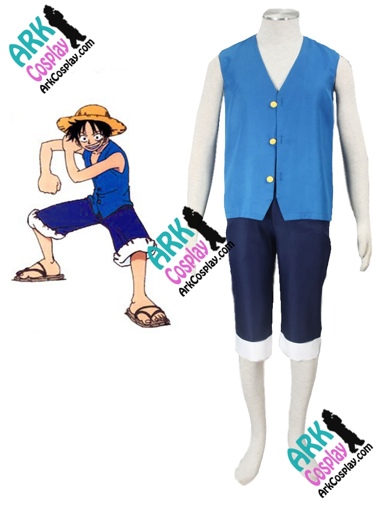 One Piece Cosplay Luffy Cosplay Blue Mens One Piece Cosplay Costume
