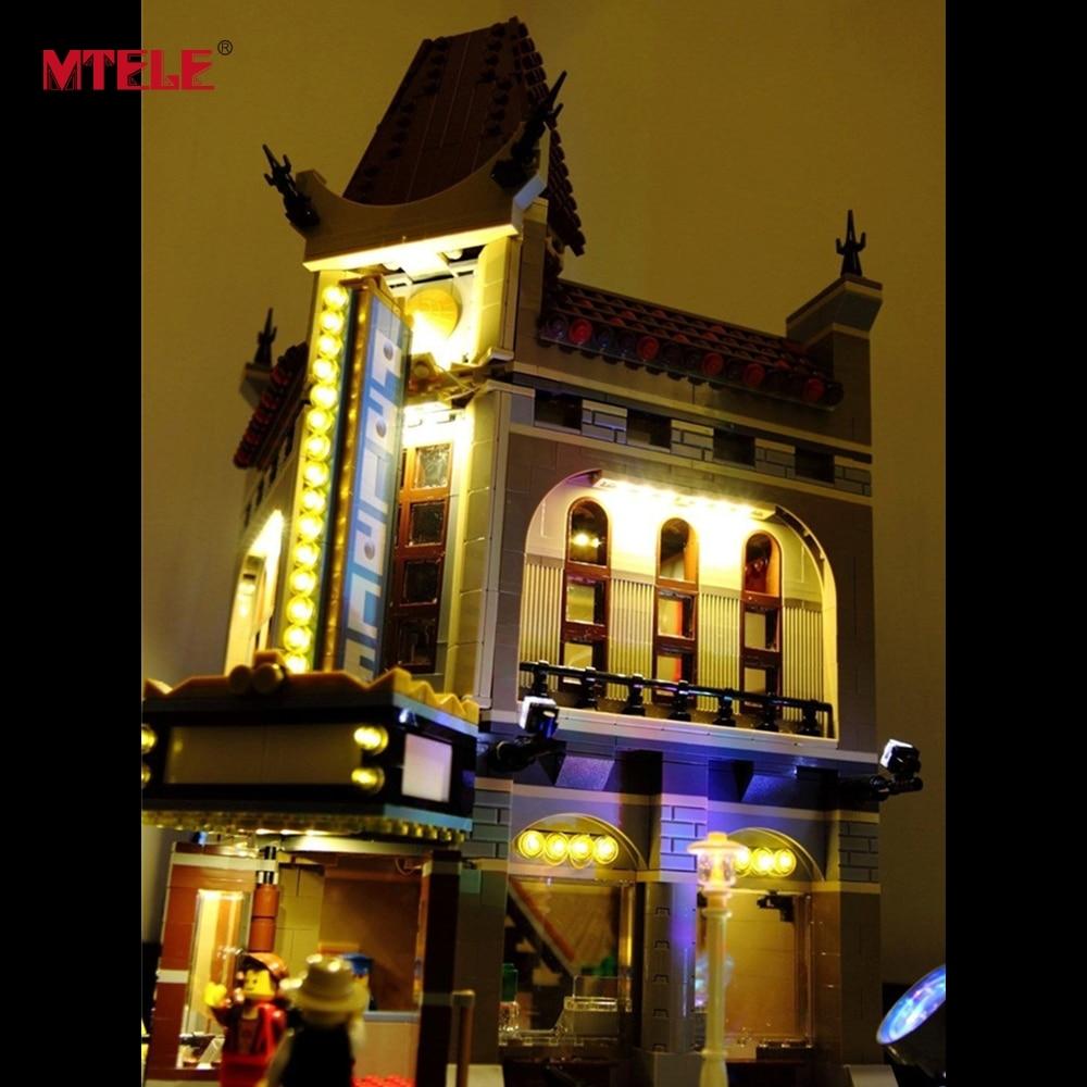 MTELE Merek LED Light Up Kit Untuk Pencipta Kota Jalan Palace Cinema - Mainan bangunan dan konstruksi - Foto 3