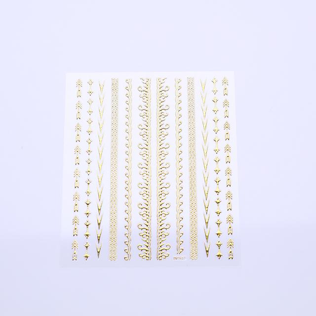 3D Gold Nail Sticker Set