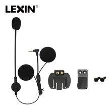 Marca Lexin citofono Auricolare e Clip di Set Accessori per LX-R6 Bluetooth Del Casco Citofono intercom Cuffie Spina Martinetti