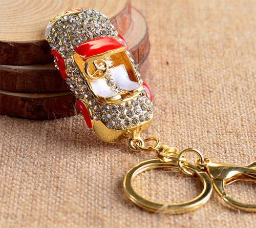 one piece fashion gold color alloy car women keychains nice enamel charm  keychains xyk107-in Key Chains from Jewelry   Accessories on Aliexpress.com  ... 6e8f0e36b