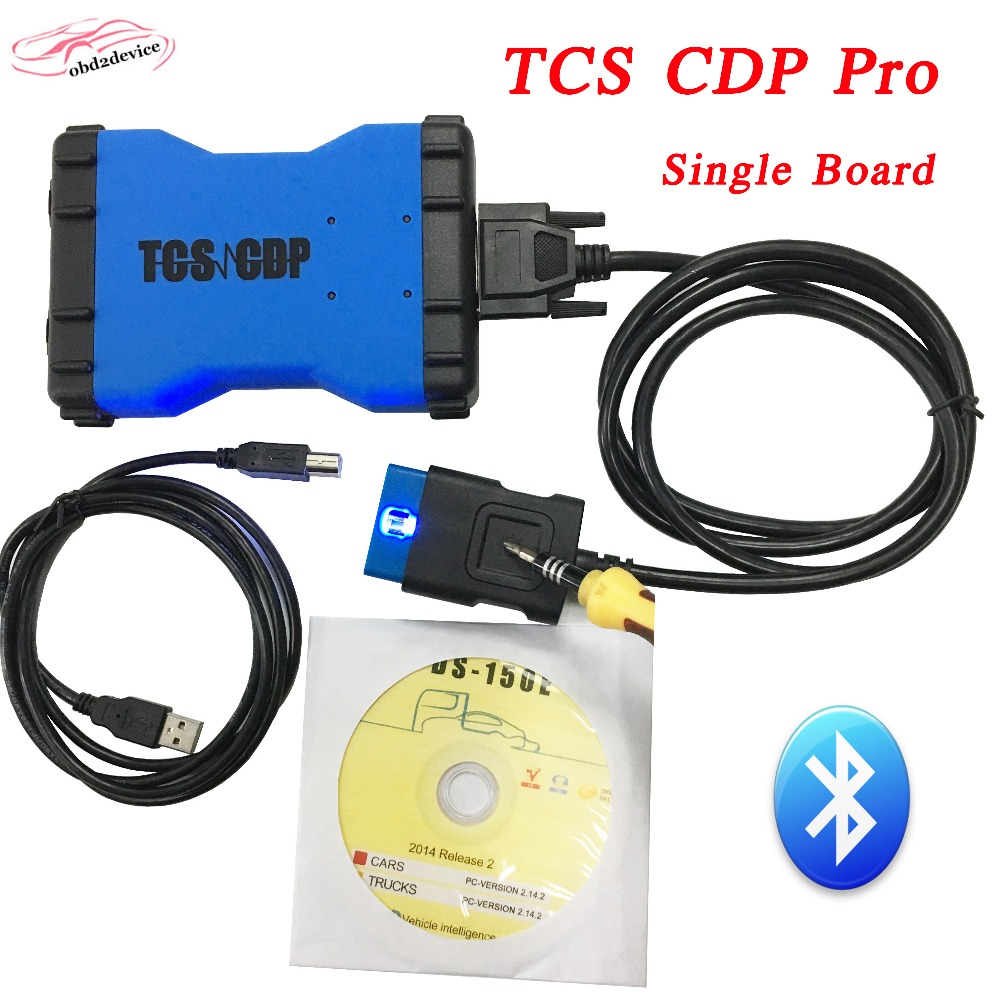 2017 Newest TCS CDP Pro Plus Green Single Board With Bluetooth+Keygen TCS CDP PRO Plus OBD2 Scanner 12V/24V CAR+TRUCK Free ship