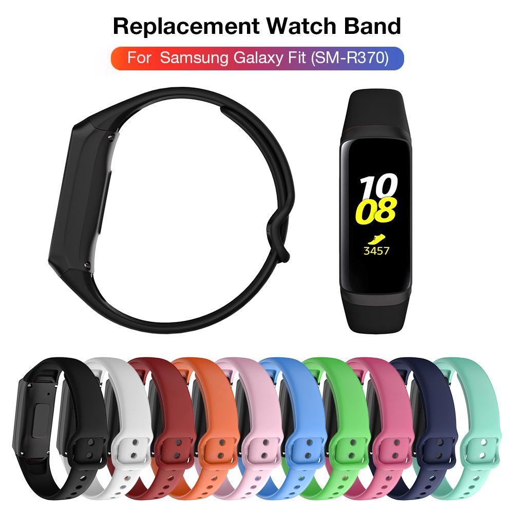 2019 High Quality Slicone Bracelet Loopback Strap For Samsung Galaxy Fit SM-R370 Multicolor Silicone Watch Band Straps