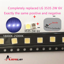 50 Pcs untuk LCD Perbaikan TV LG LED TV Backlight Strip Lampu dengan Lampu-Emitting Diode 3535 SMD LED manik-manik 6V(China)
