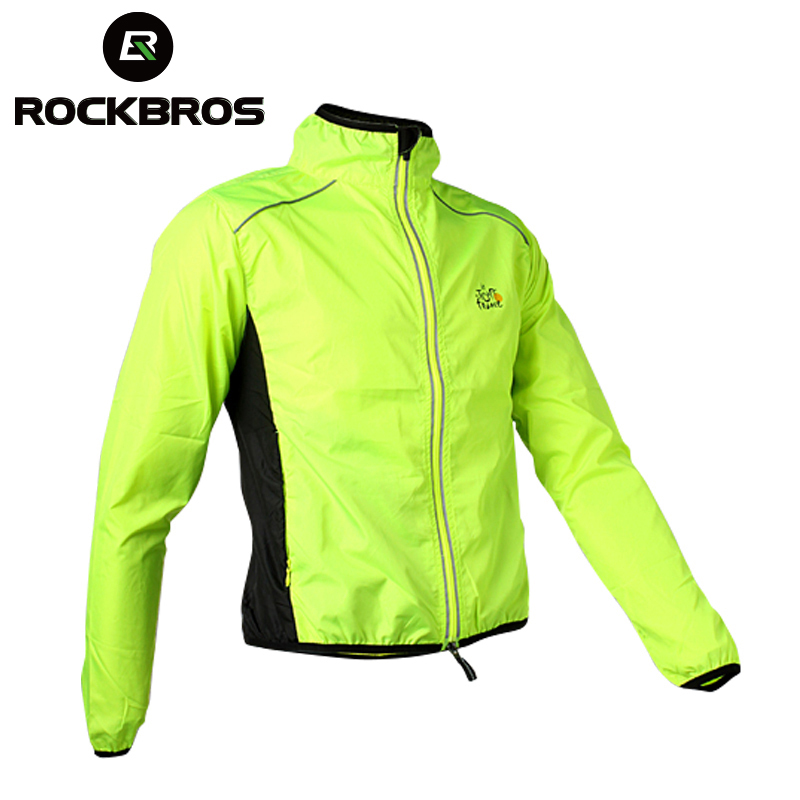 ROCKBROS Cycling Mens Riding Breathable Reflective Jersey MTB Cycle Clothing Long Sleeve Windproof Quick Dry Coat Jacket 6Color ...