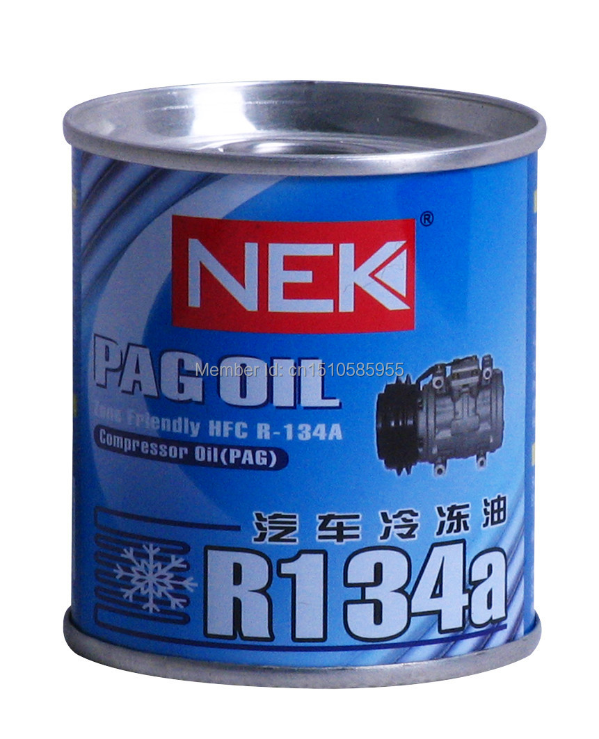US $9 5 5% OFF|Free Shipping,Compressor oil,pag oil zone friendly HFC R  134A,Air compressor oil,70g 2pieces-in Air-conditioning Installation from