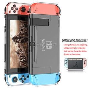 10 Sets/lot Nintend Switch Shell Slim Back Hard Crystal Split Protective Cover Case Skin Fit for Nintendo Original Dock Station(China)
