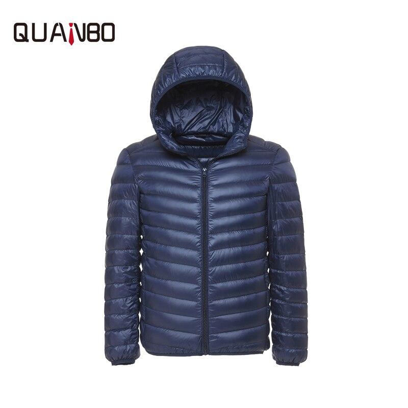 Для мужчин зима 90% белая утка ультра легкая зимняя куртка-пуховик Для мужчин Мода с капюшоном пальто свободного кроя 6 Цвет Повседневное парка брендовая одежда S-3XL