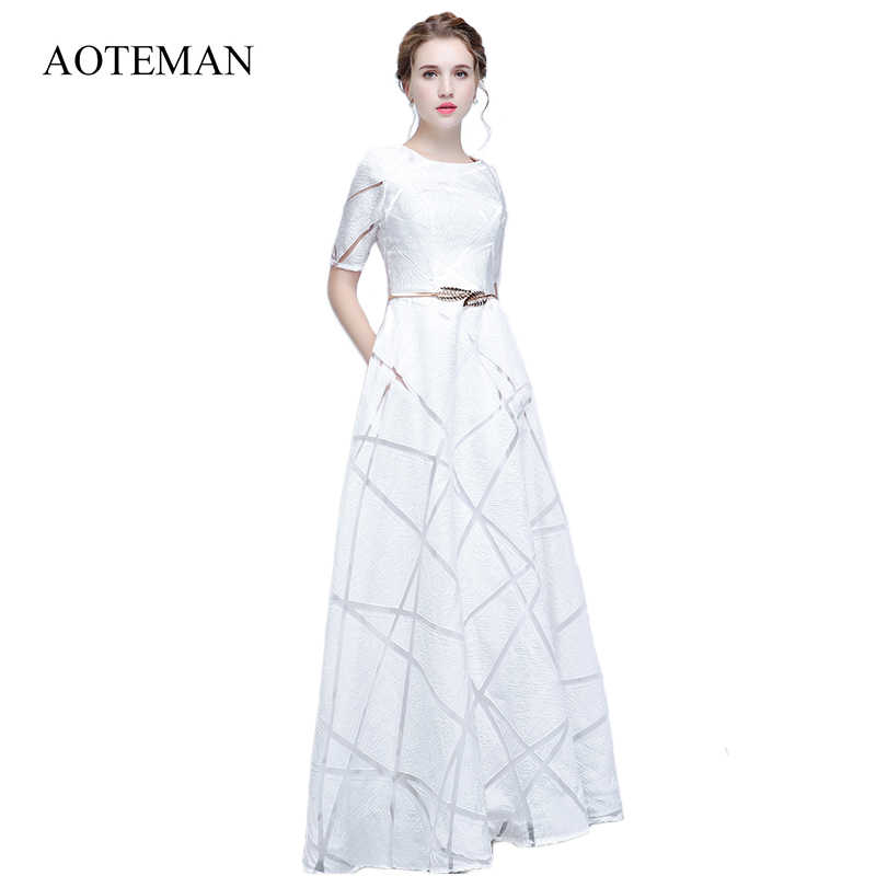 7769faf425 AOTEMAN Women Summer Dress 2019 Sexy A-Line Sashes Short Sleeve Party Dress  Vintage Casual