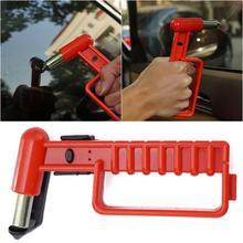 Автомобильный безопасный выход молоток автомобильный стоячий помощь автомобиль помощь выход портативный поддержка ручка с светодиодный свет, ремень безопасности резак