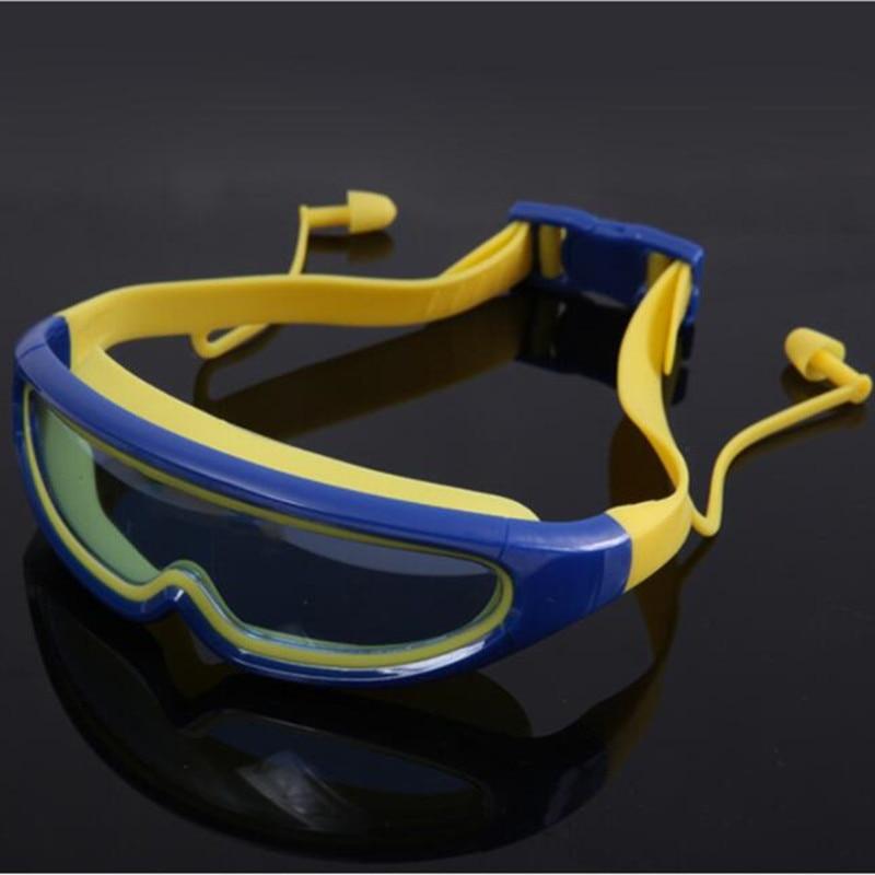 Funfeliz Anti-Fog Kids Swimming Goggles with Ear Plug UV Protection Children Swim Eyewear Waterproof Silicone Pool Swim Glasses