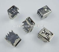 200Pcs Mini USB 5Pin Female PCB Socket Connector DIY