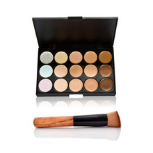 1 PCS Professional Concealer Palette 15 Colors Makeup Party Contour Palette Beauty Face Cream and Makeup Brush Make Up BO