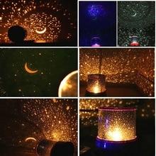 Gwiazda LED lampka nocna projektor LED noc gwiazda księżyc mistrz romantyczna kolorowa lampa projektora dzieci dzieci Home Decor