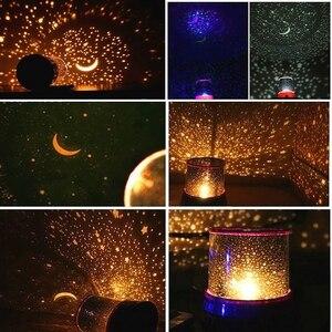 Image 1 - Gwiazda LED lampka nocna projektor LED noc gwiazda księżyc mistrz romantyczna kolorowa lampa projektora dzieci dzieci Home Decor