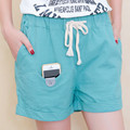 New Design 2017 Summer Shorts Women Fashion Pockets Cotton Linen Short Trouser Loose High Waist Solid Color Casual Shorts