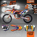 Custom Team Graphics Backgrounds Decals 3M Customized RB Design Sticker Kits For KTM SX F 2003-2017 E XC 2004-16 Free Shipping
