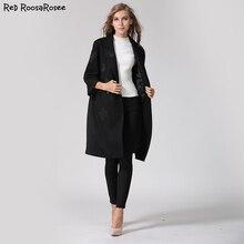 2017 Women Winter Coat Fashion Casual Butterfly Embroidery Woolen Polyester Jacket Winter Coats Long Outerwear for Women
