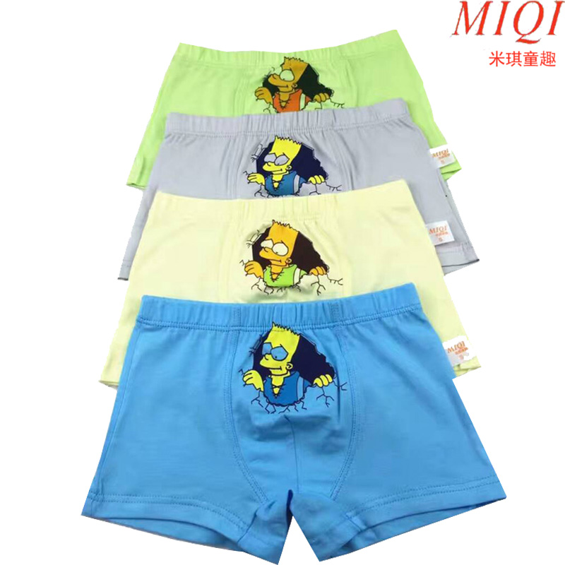 4 Pcs/lot 2017Cotton Cartoon Kids Boys Underwear Summer Soft Breathable Baby Boxer Children's Underpants Hero underwear 4-15Y