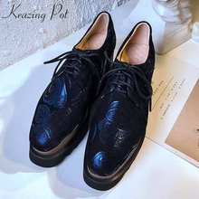 fb6a96fd5 Krazing وعاء الشرقية الأغنام الجلد المدبوغ أنماط جلدية عالية الأزياء أسافين  حذاء حريمي كعب عالي عالية